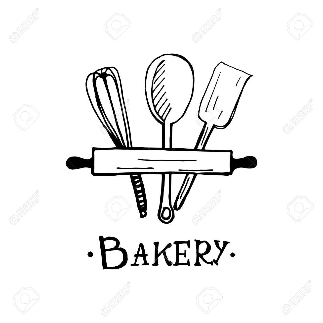 Bakery Logo Design An Idea For Cafe Bakeshop Maffin Shop Royalty Free Cliparts Vectors And Stock Illustration Image 82741506