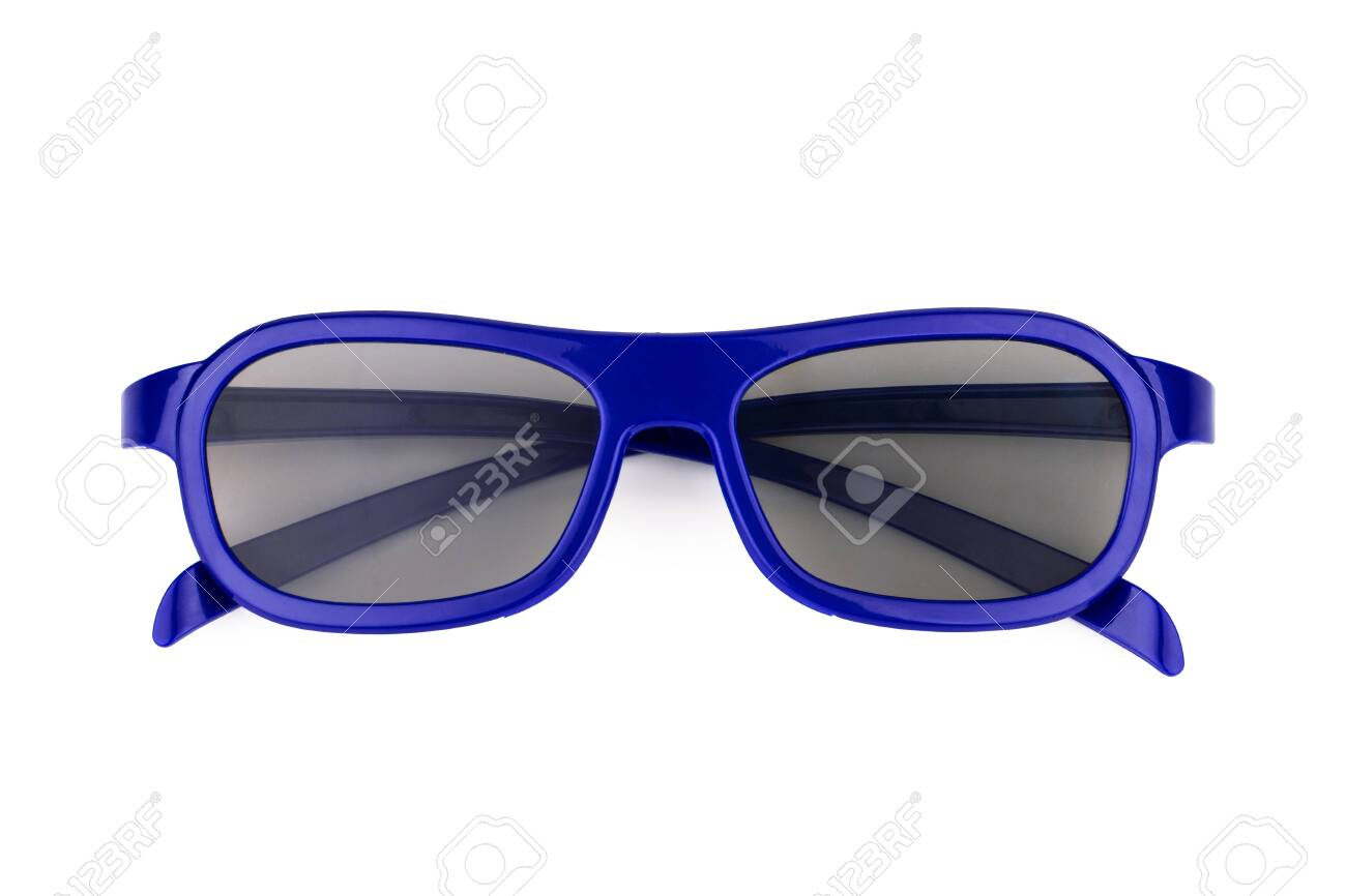 3d cinema glasses isolated on white background - 146598580