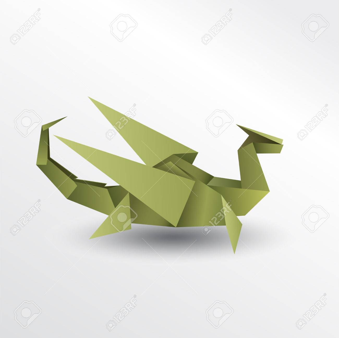 Dragon Origami Paper Royalty Free Cliparts Vectors And Stock