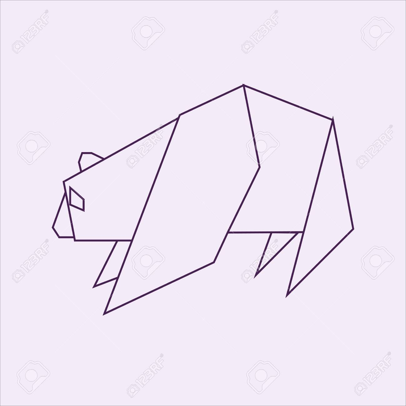 Tremendous Bear Origami Stock Photo Picture And Royalty Free Image Image Wiring 101 Olytiaxxcnl