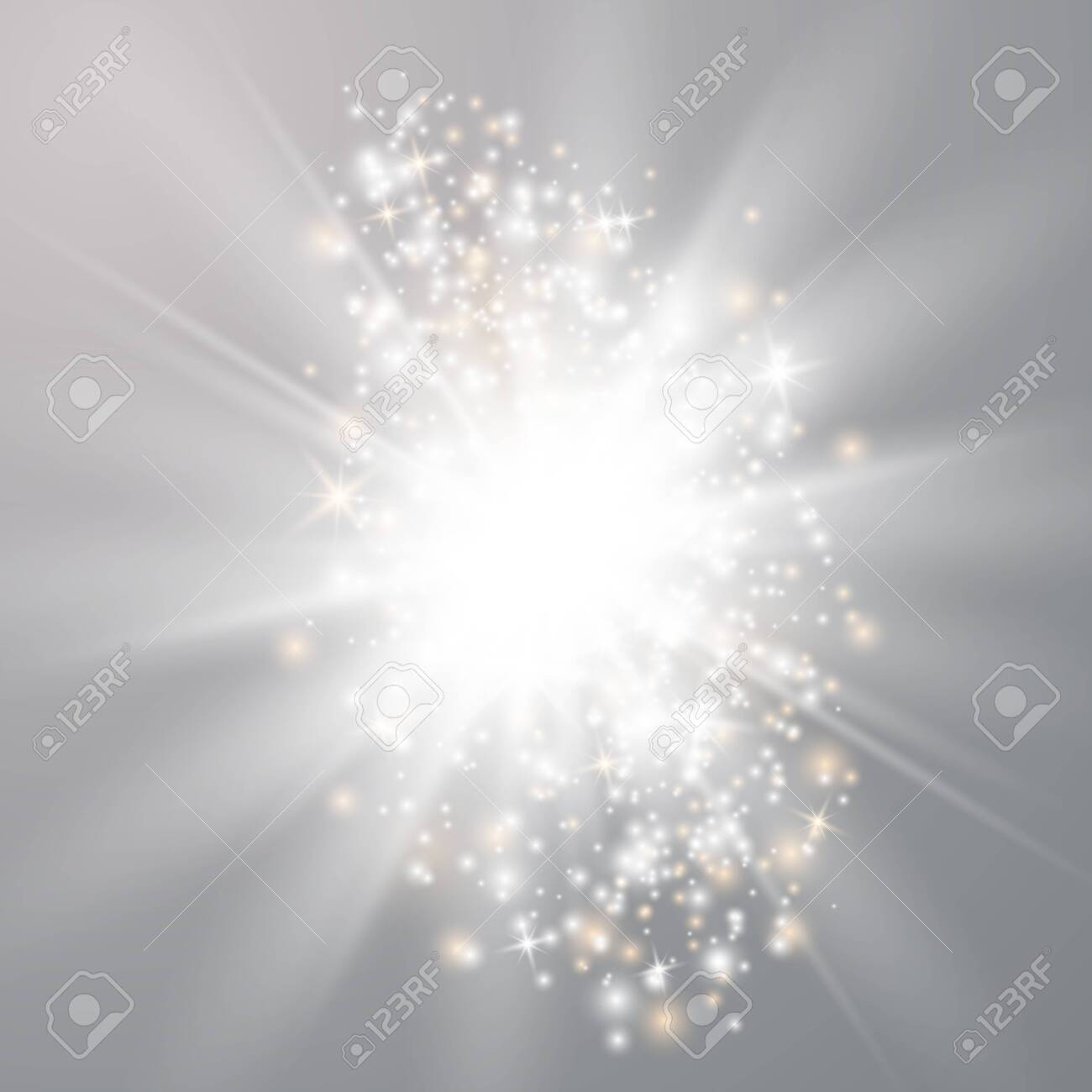 Glowing lights effects isolated on transparent background. Sun flash with rays and spotlight. Special effect isolated on transparent background. - 128274527