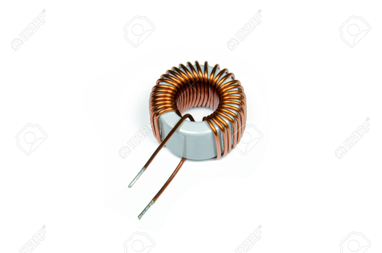 Inductor Copper Coils Isolated On White Background Stock Photo Of Wire Are Commonly Used In Electrical Inductors 73168455