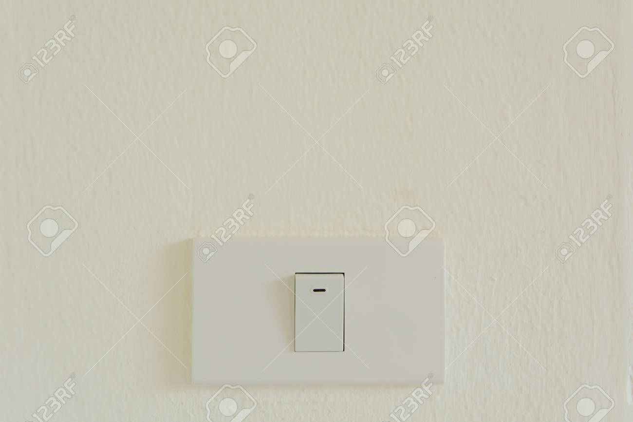 White Light Switch On Wall Turn On Or Turn Off The Lights, Copy ...