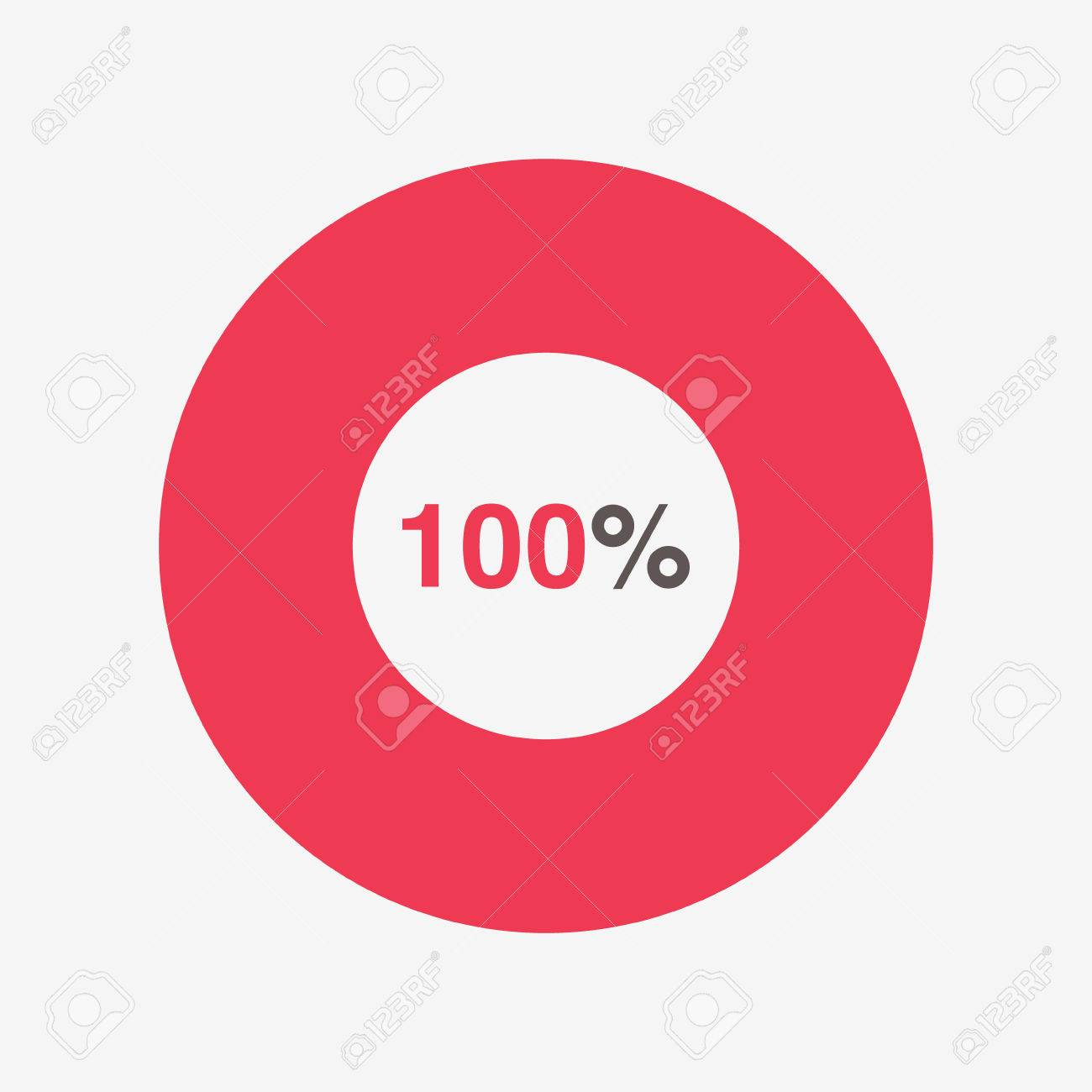 Icon red and black chart 100 percent pie chart vector royalty free icon red and black chart 100 percent pie chart vector stock vector 66669662 geenschuldenfo Gallery