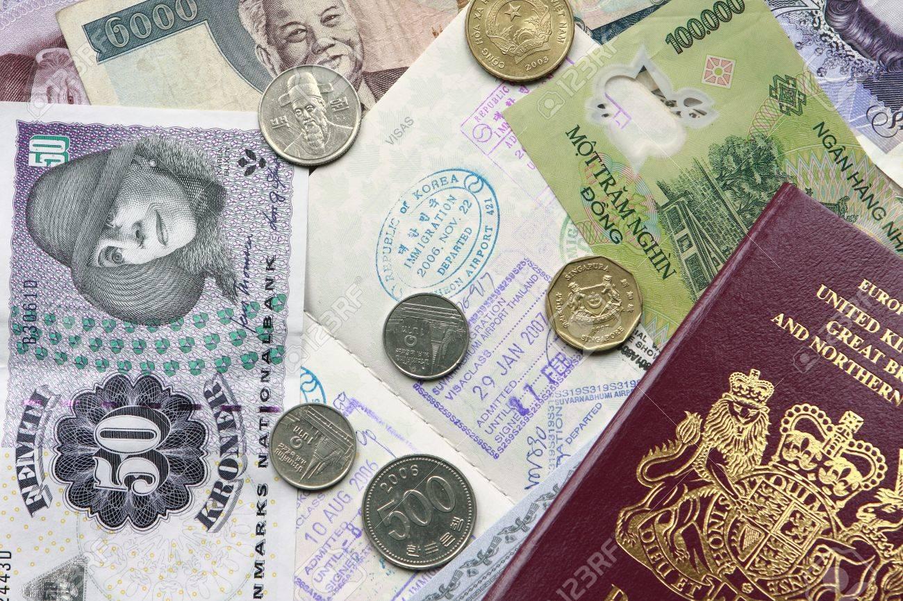 国際通貨を含むイギリスおよびカ...
