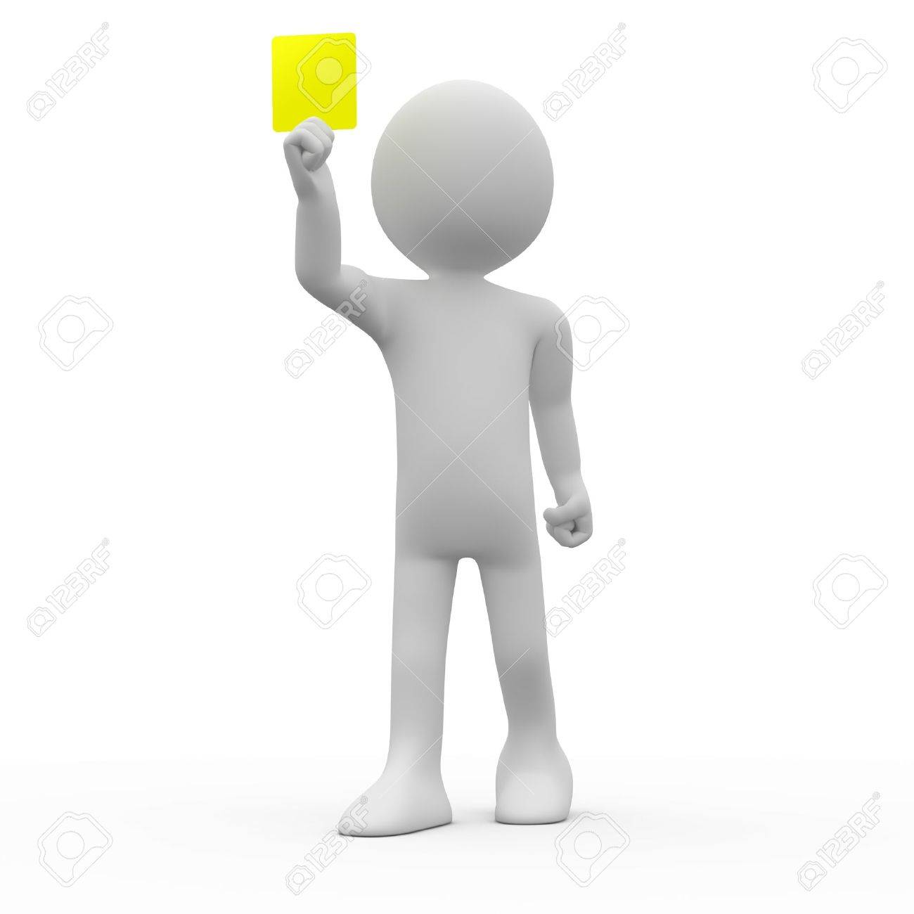 Referee showing yellow card Stock Photo - 9417746