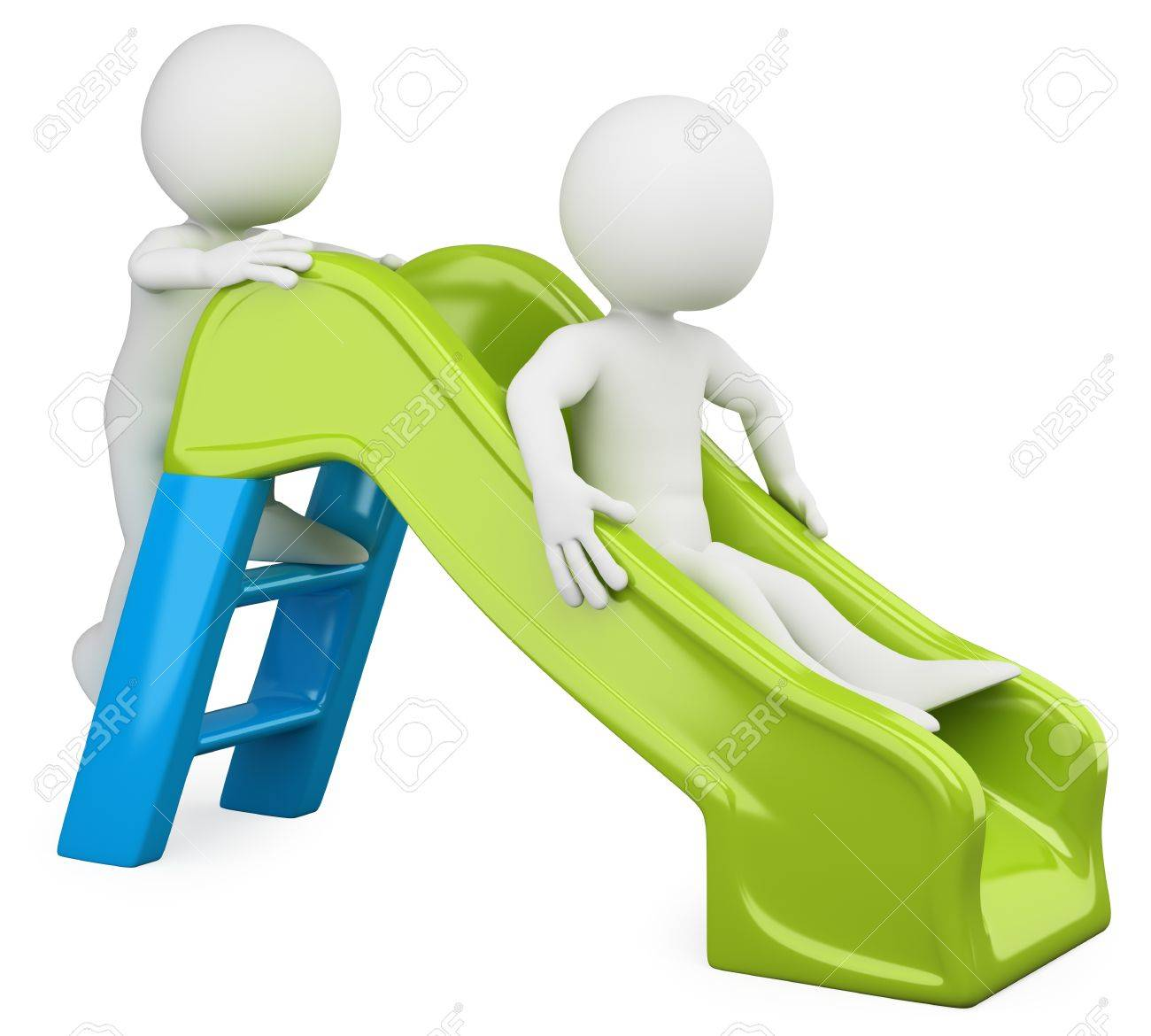 3D children - Slide  Rendered at high resolution on a white background with diffuse shadows Stock Photo - 13212809