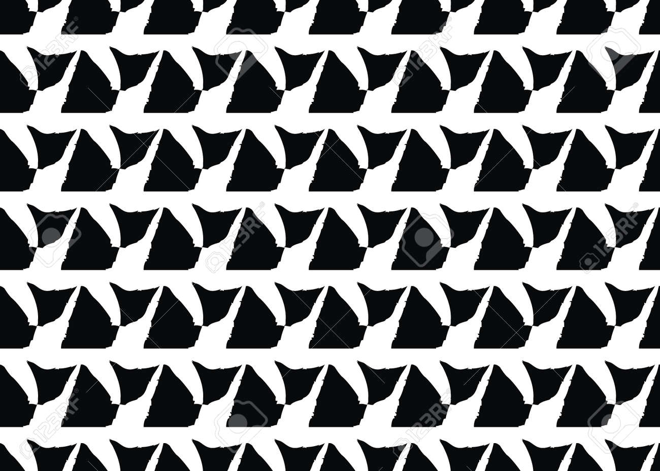 Vector texture background, seamless pattern. Hand drawn, black and white colors. - 167258429