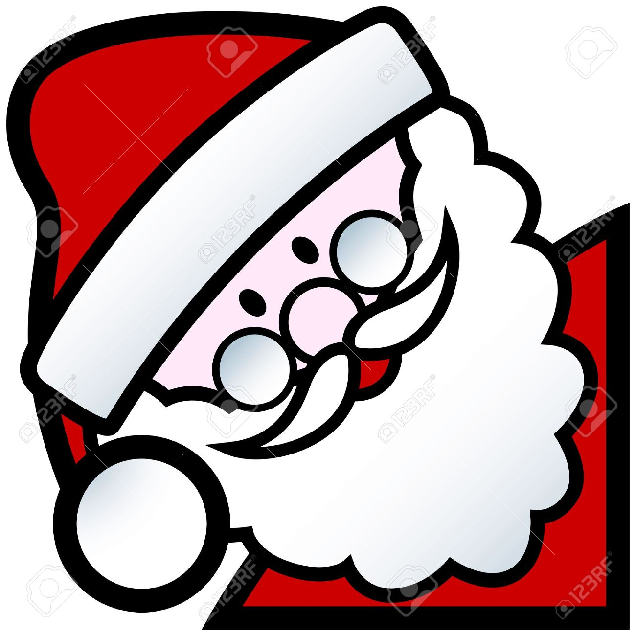 Father Christmas Cartoon Images.Cartoon Of Happy Smiling Father Christmas Character