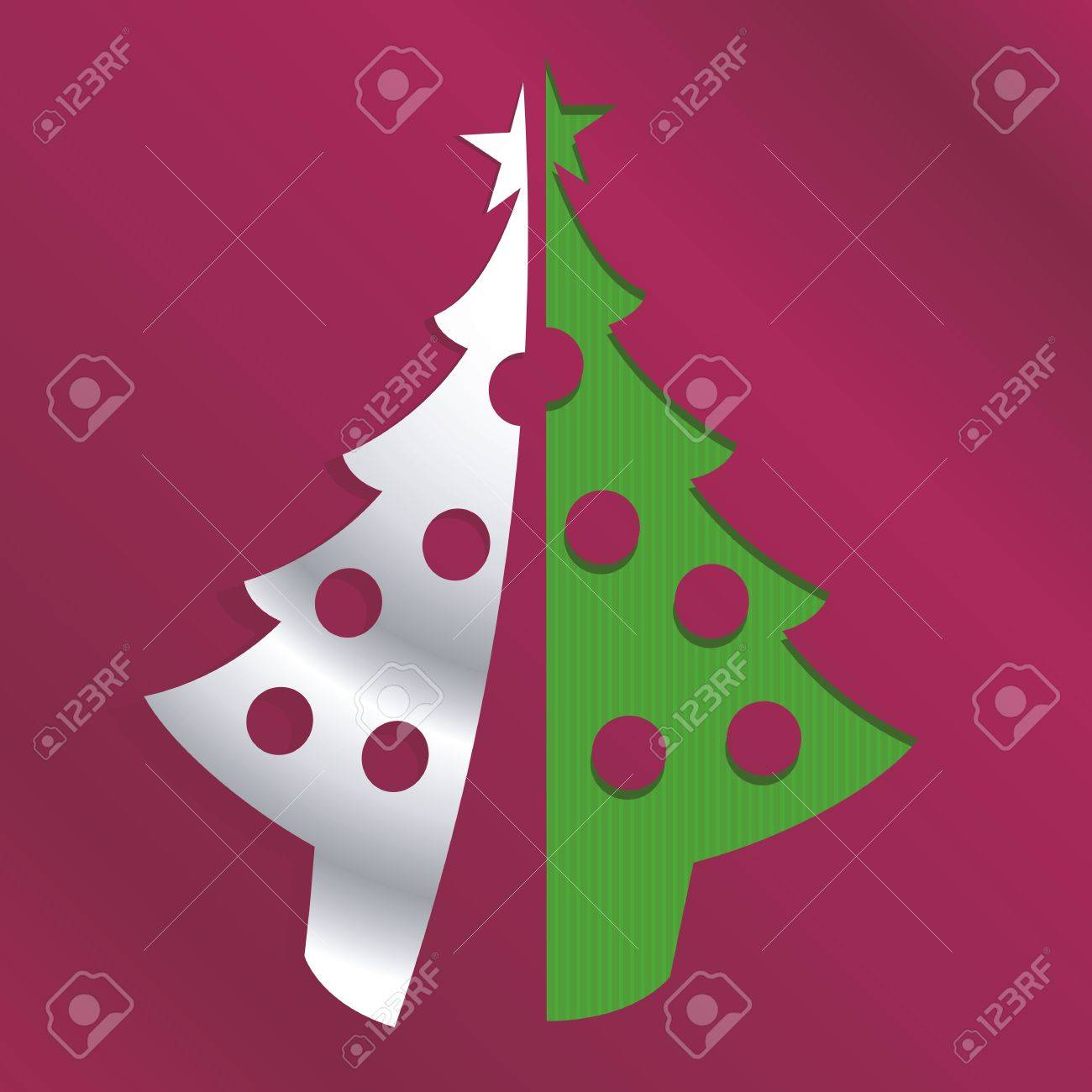 abstract christmas tree icon cut out from background Stock Vector - 15863517