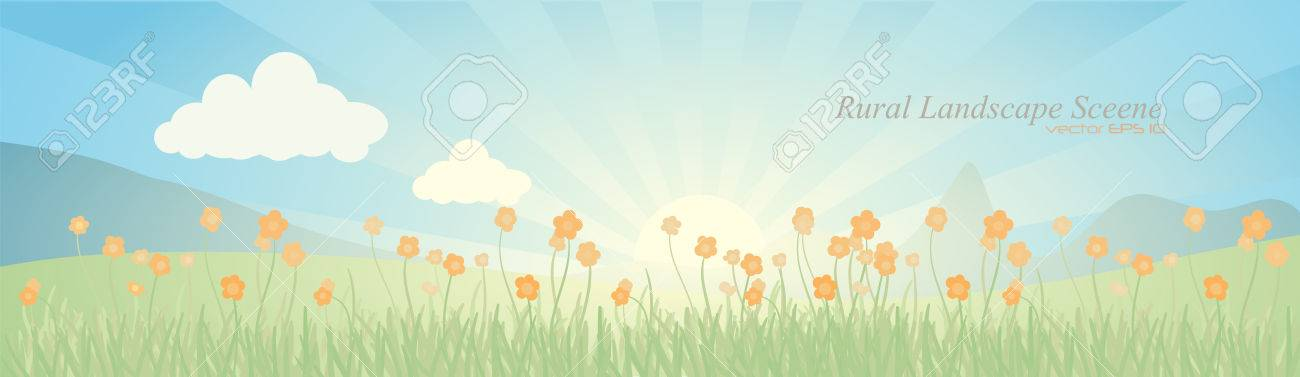 abstract landscape scene illustration Stock Vector - 7822321
