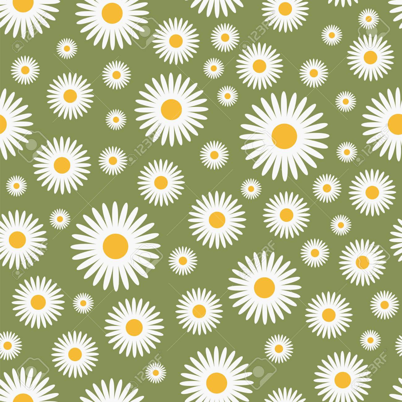 floral green pattern - seamless,   illustration Stock Vector - 7822339