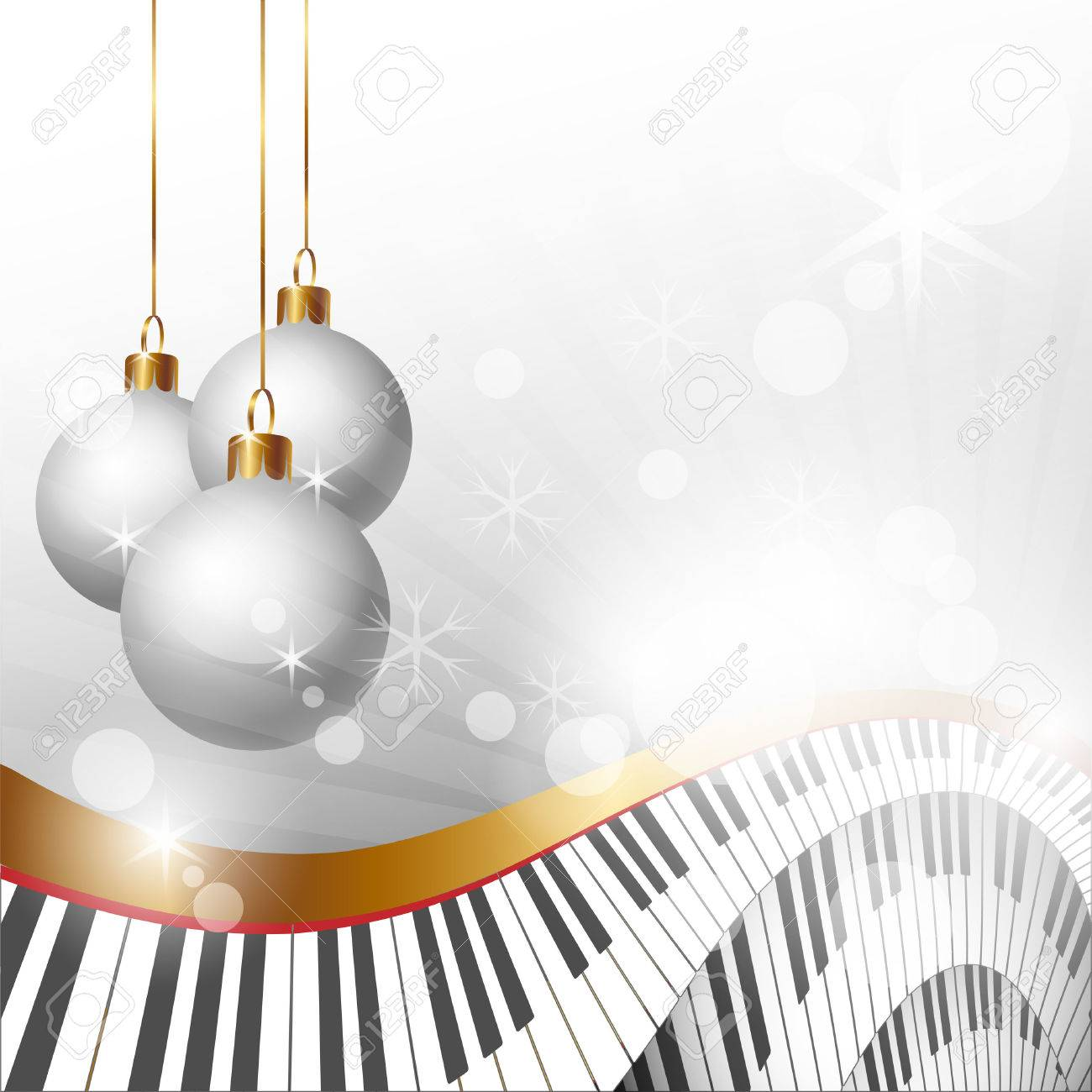 Christmas Music Background.Magic Christmas And Music Background Vector Illustration