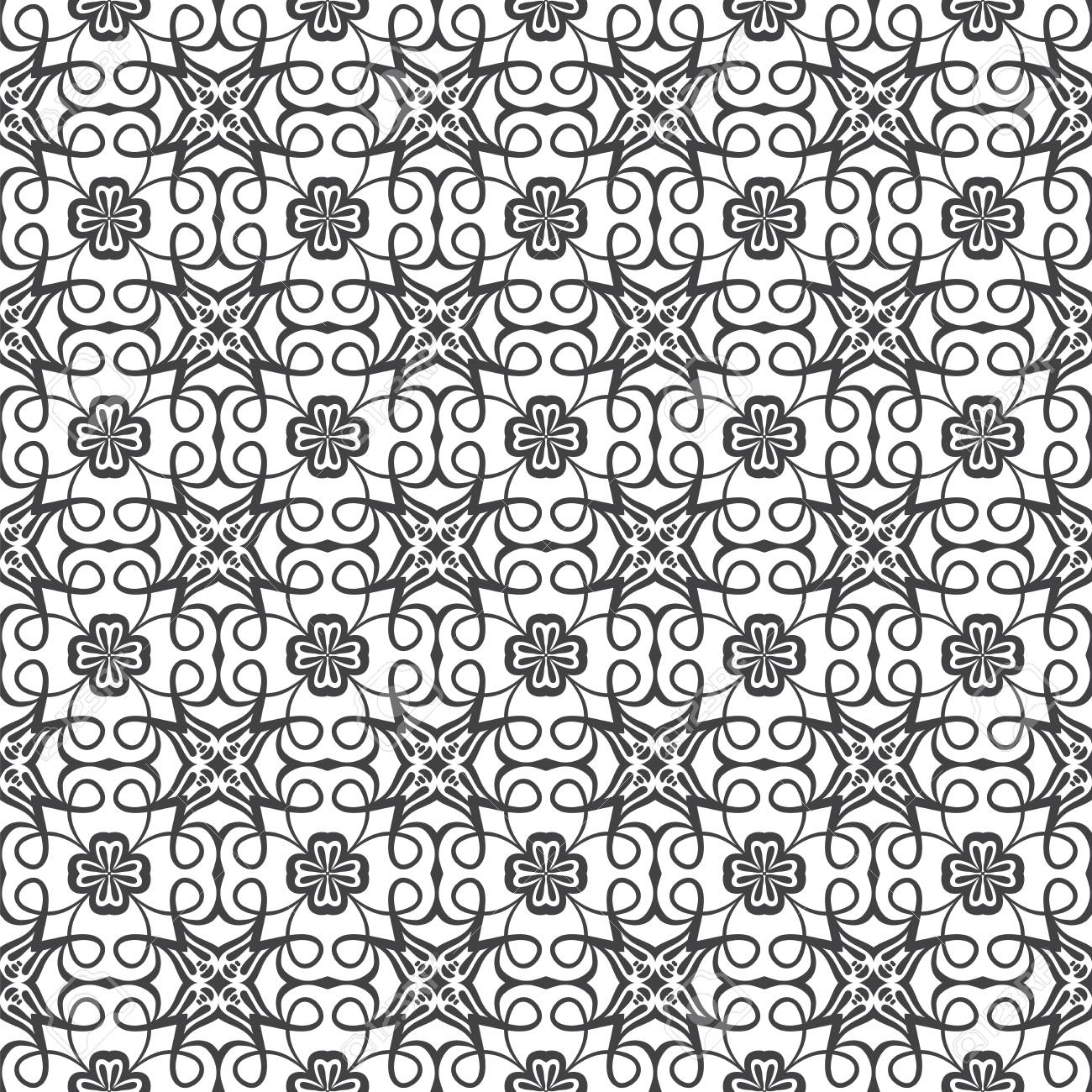 Seamless Damask pattern. | Vector illustration. Stock Photo - 9534761