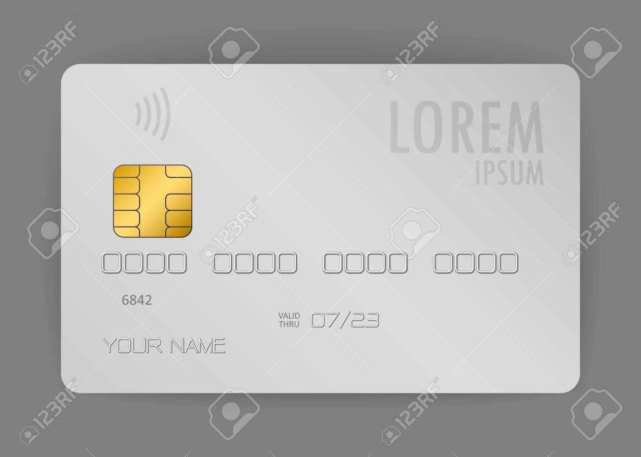 vector realistic credit card, realistic electronic card used to pay at the store - 138528011