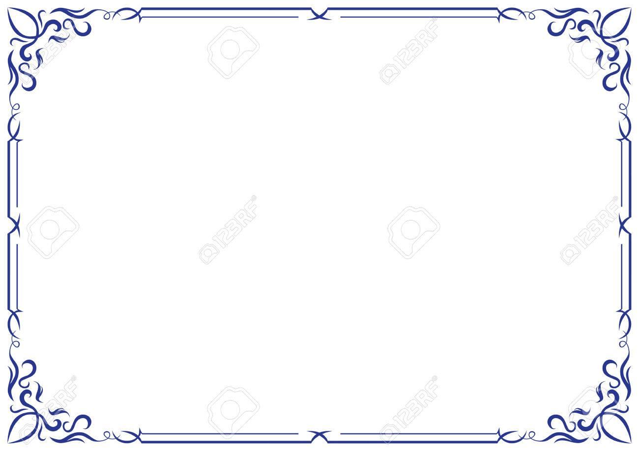 ベクトルのフレームと枠線のイラスト素材ベクタ Image 22508897