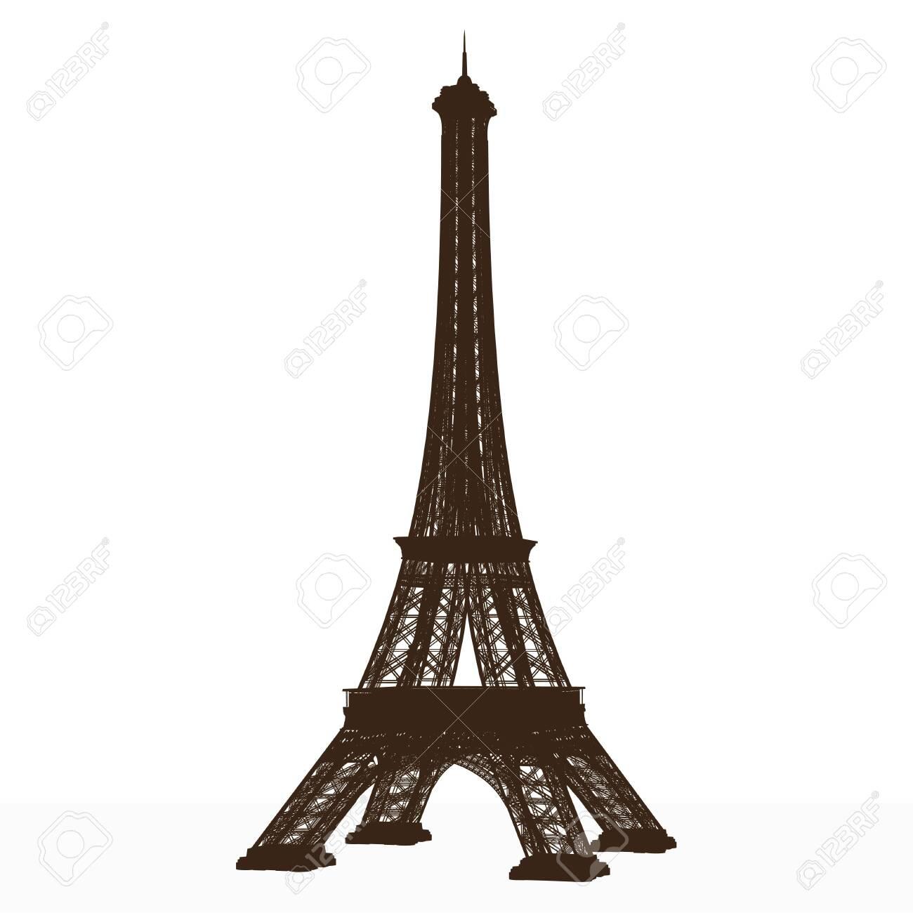 eiffel tower. detailed vector. - 149983186