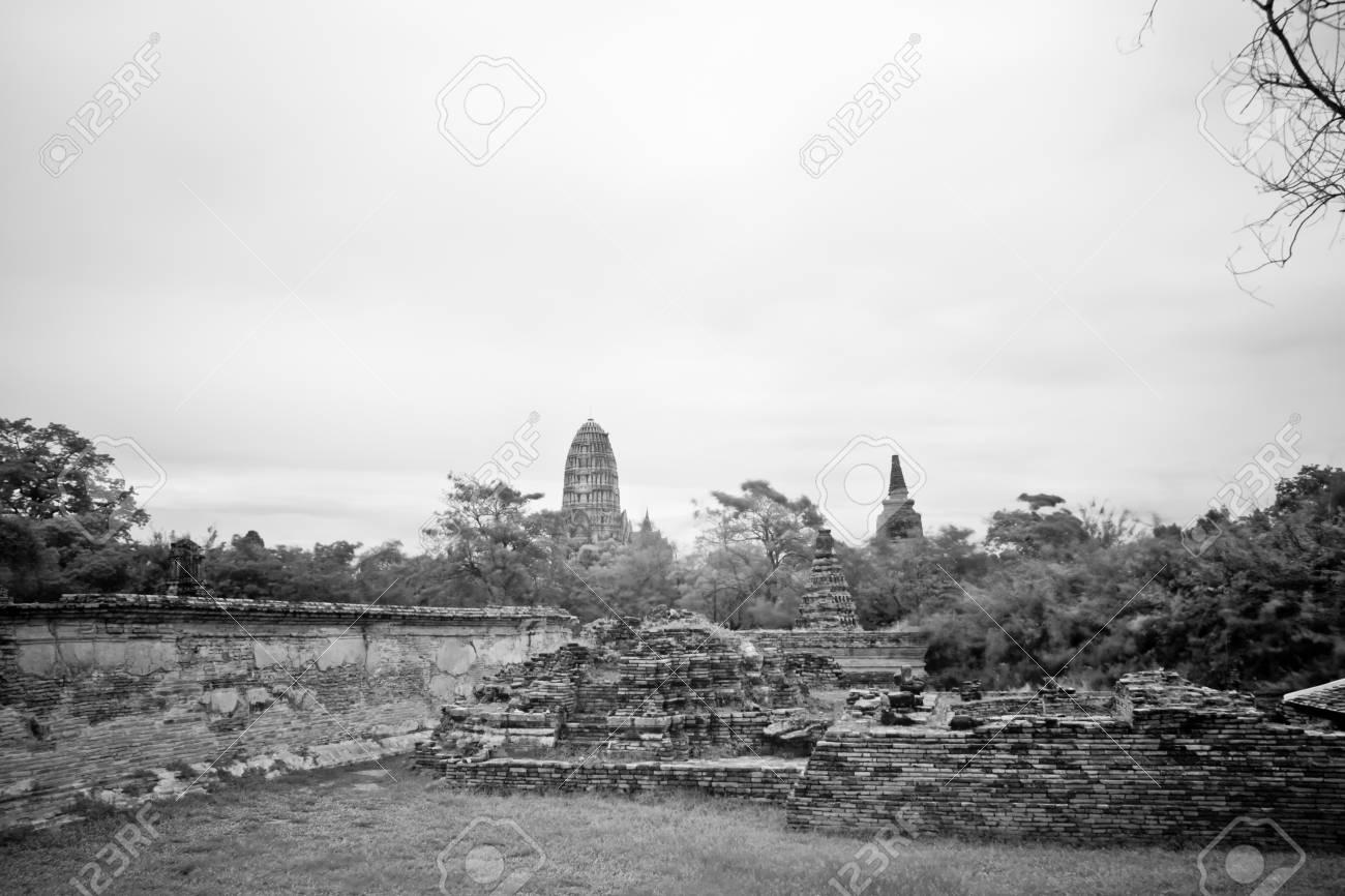 pagoda photo by infrared at Phra Nakhon Si Ayutthaya  thailand Stock Photo - 14839421