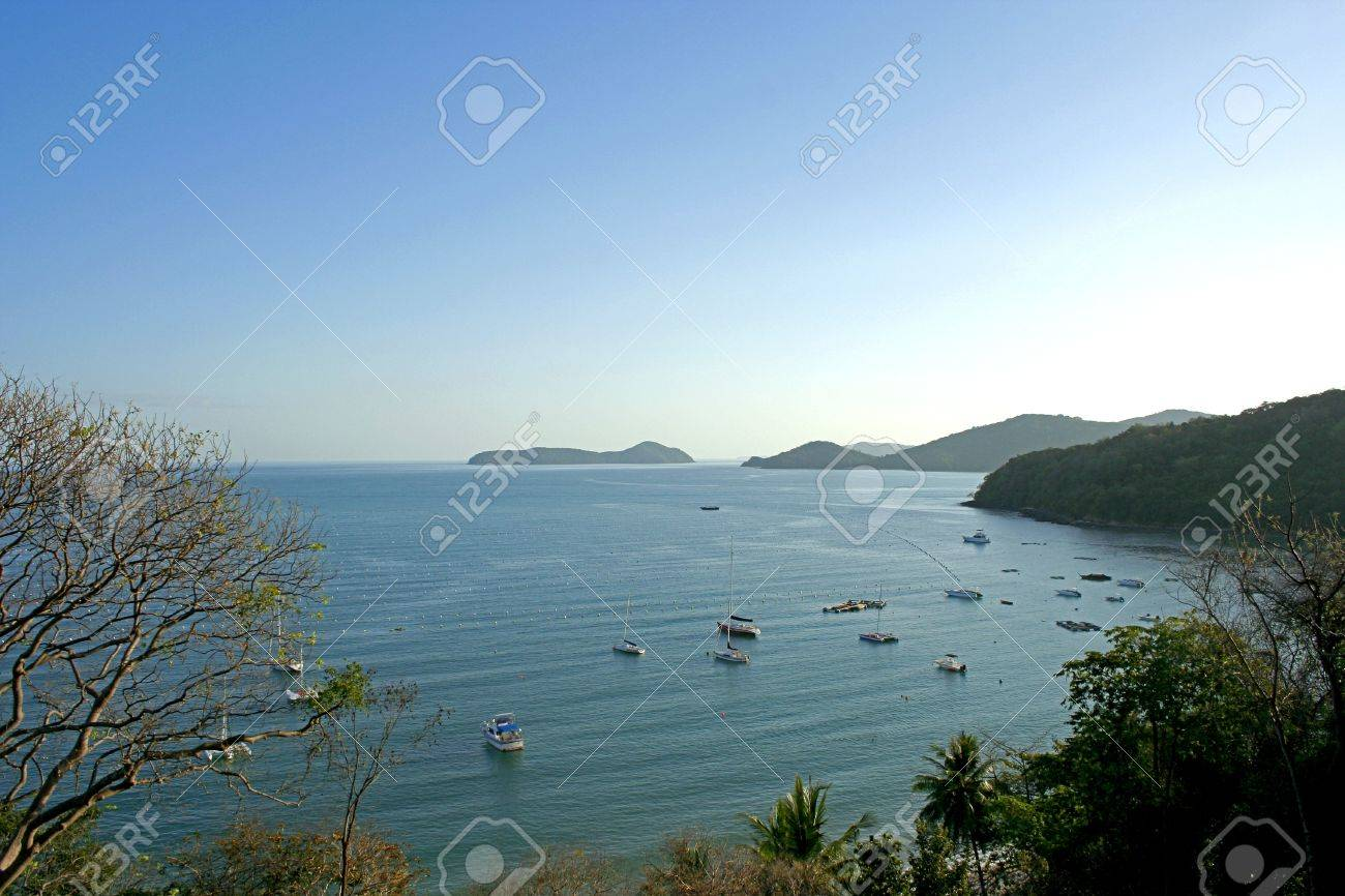 boat at sea, and one corner of the sea, Phuket On the sky is clear. Stock Photo - 7973428