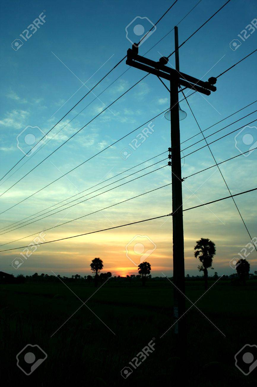 The evening before sunset rural Thailand Stock Photo - 8055657