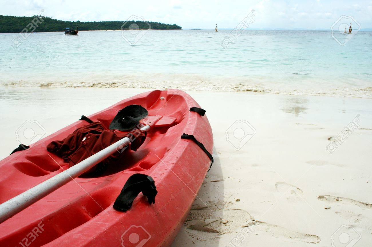 A sea kayak on a beach in Krabi - 8456528