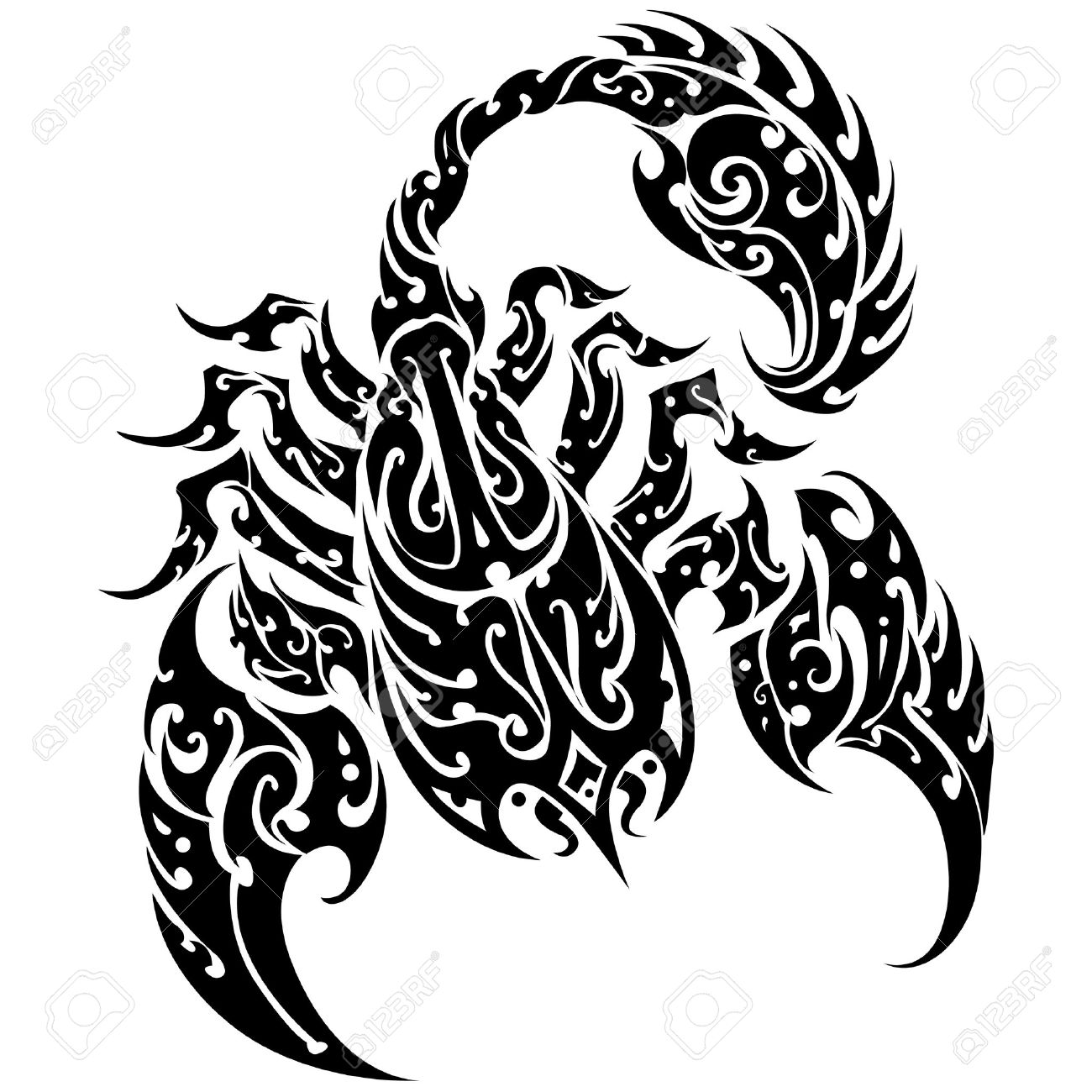 Scorpion Tattoo on a Isolated Background Abstract Vector Illustration of Scorpion - 22612371