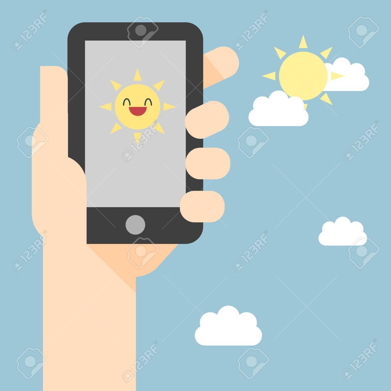 Weather reports via smart phone - 23207393