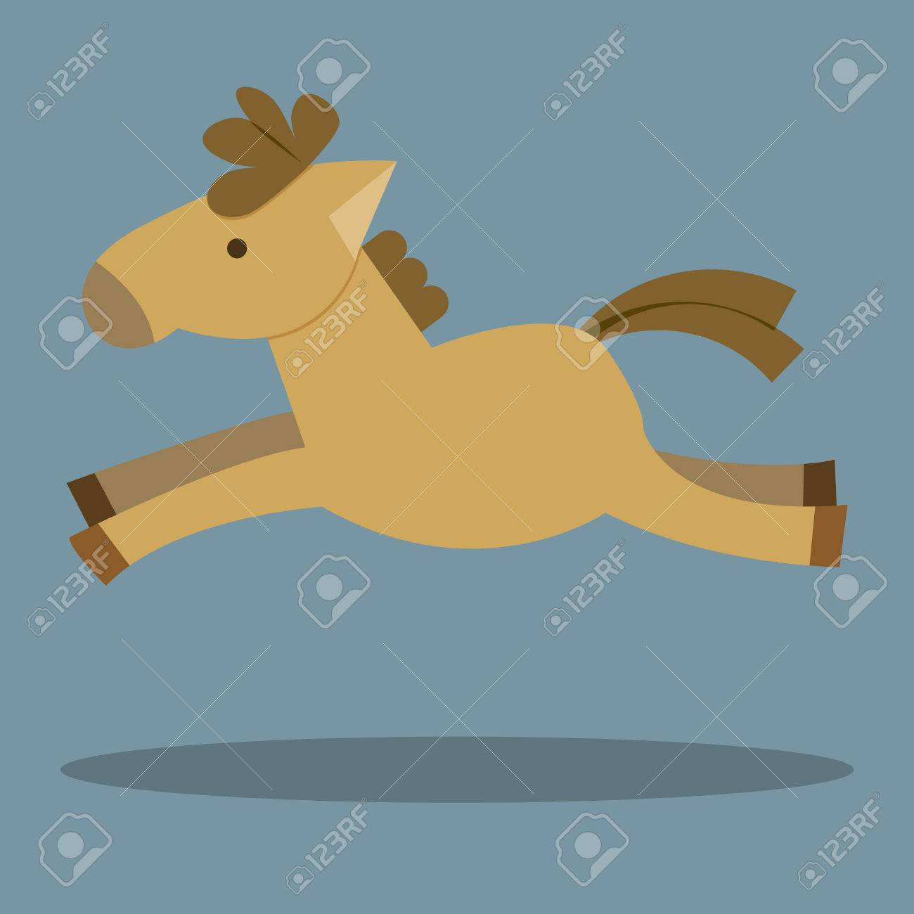 Illustration Of A Funny Horse Cartoon Horse Running Horse Jumping Royalty Free Cliparts Vectors And Stock Illustration Image 24024118