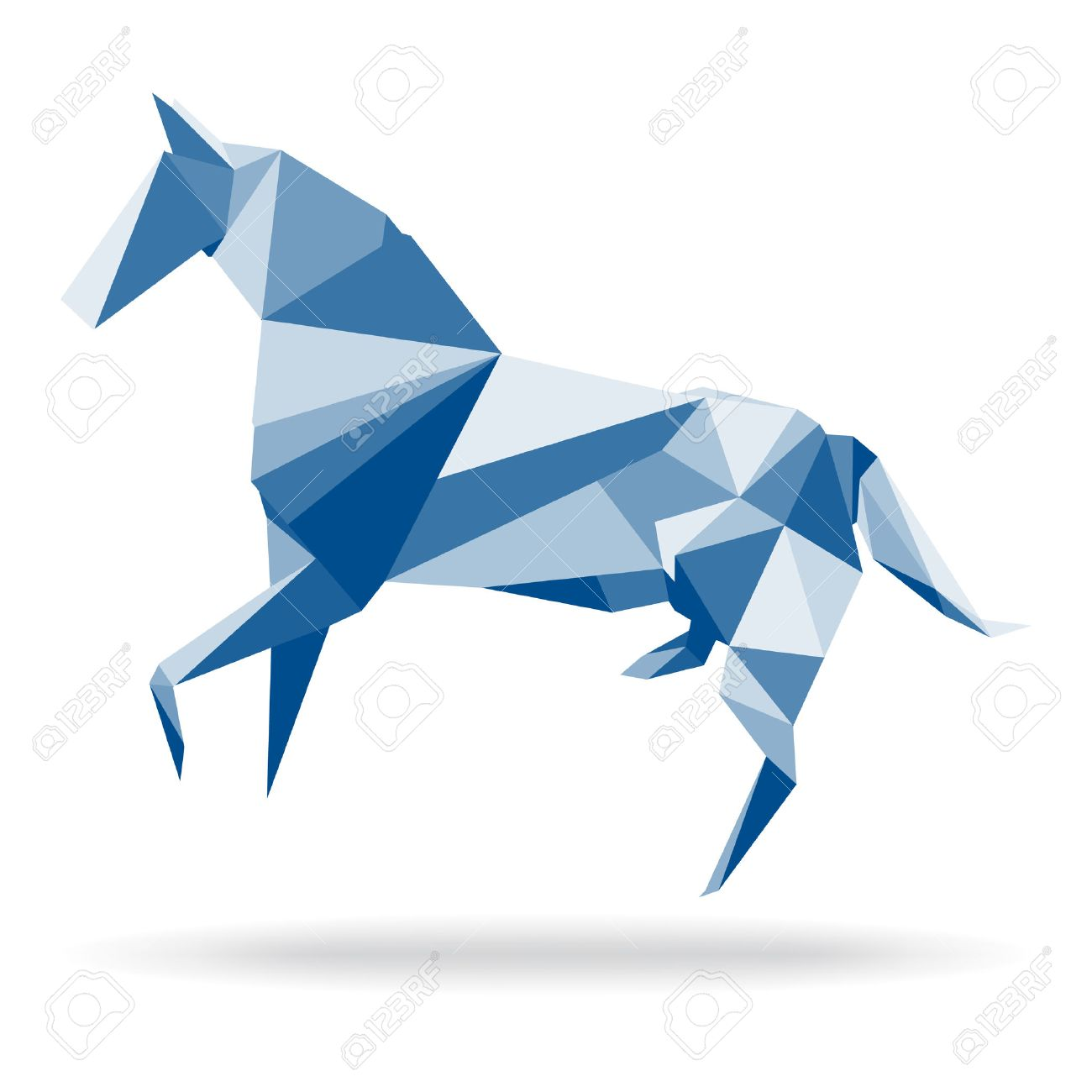 Horse Polygon Abstract Vector Paper Origami Illustration Of In Style