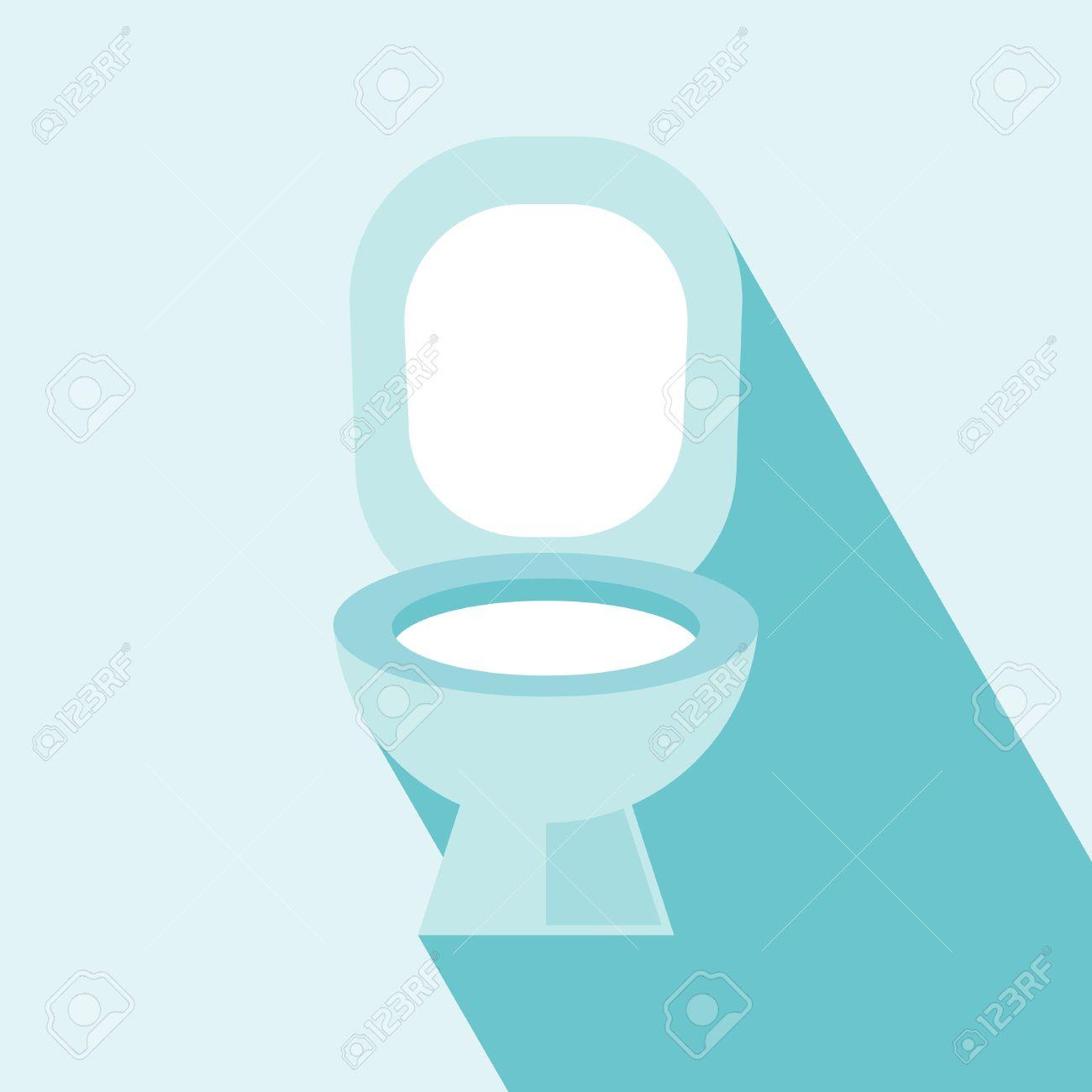 Flush Toilet Icon Wc ,Toilet sign,vector Flush Toilet Icon on light blue Background Elements for design - 29708822