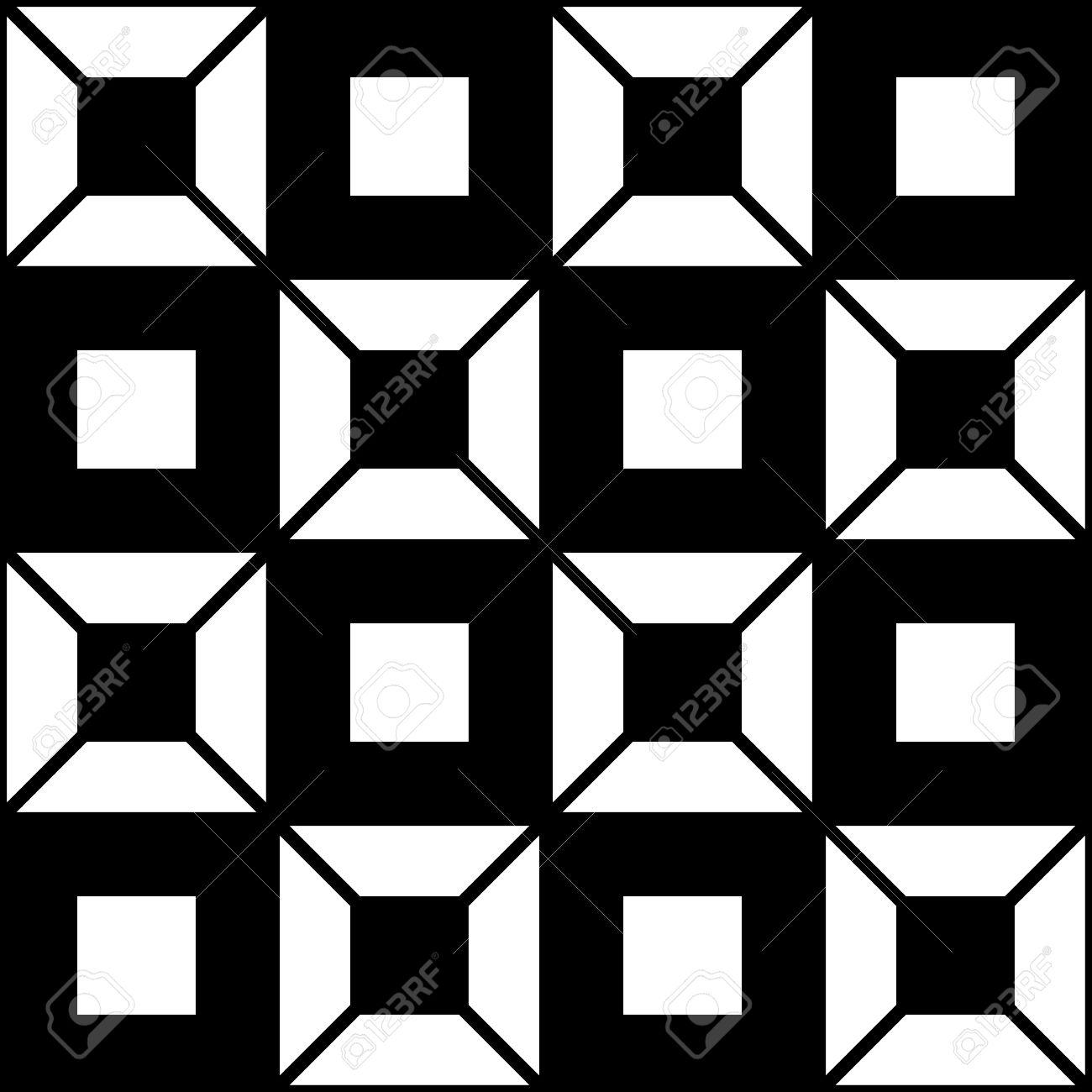 a geometric monochromatic chessboard seamless patterns made of