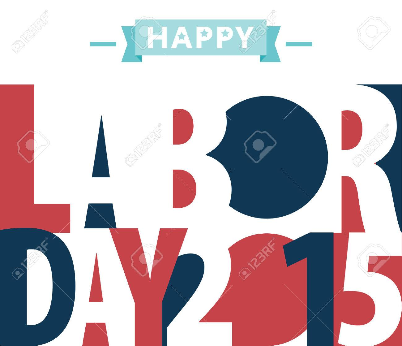 Happy Labor day american. text signs. vector illustration for design. All in a single layer. Vector illustration. - 40115806