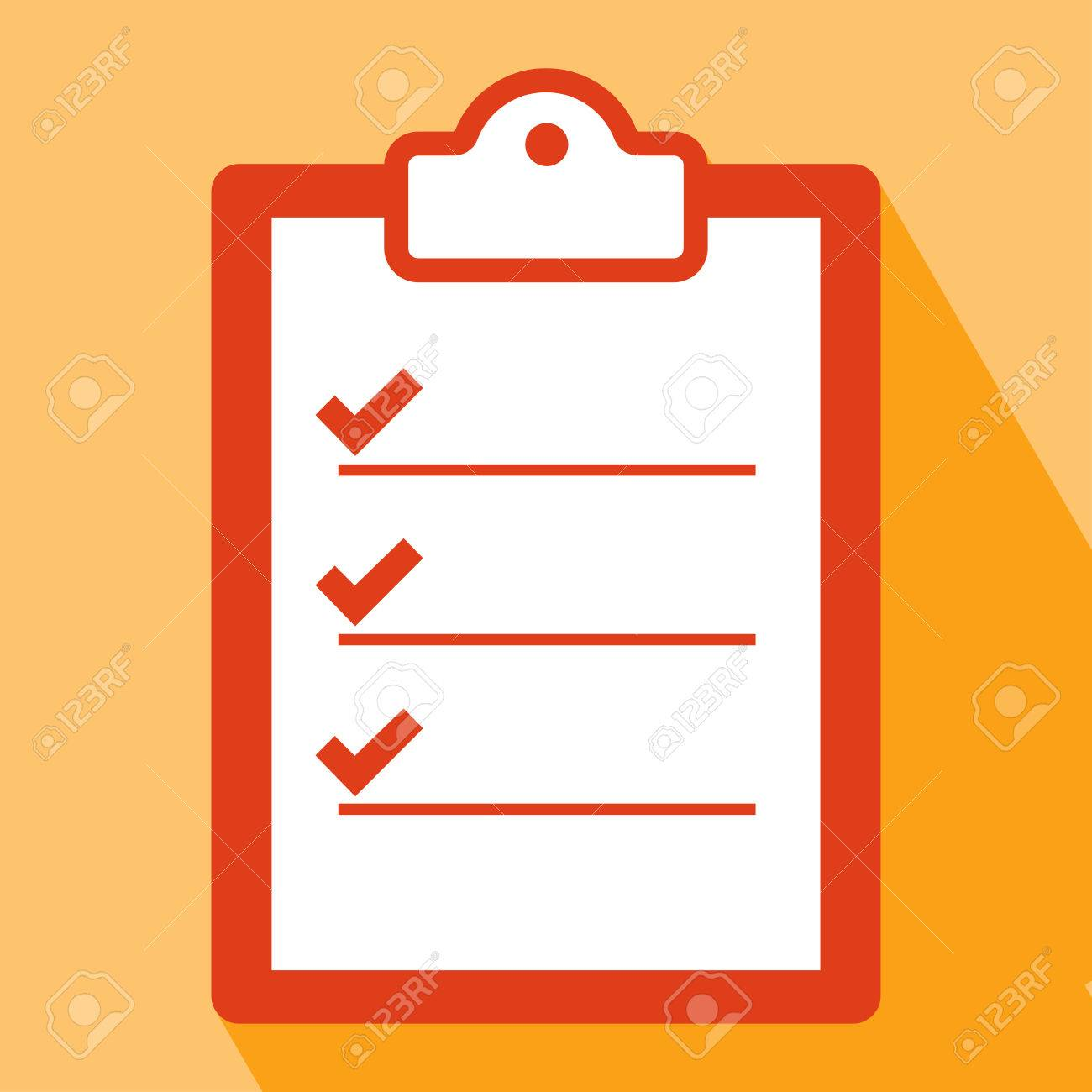clipboard icon clipboard icon vector isolated on orange background rh 123rf com clipboard vector art clipboard vector free download