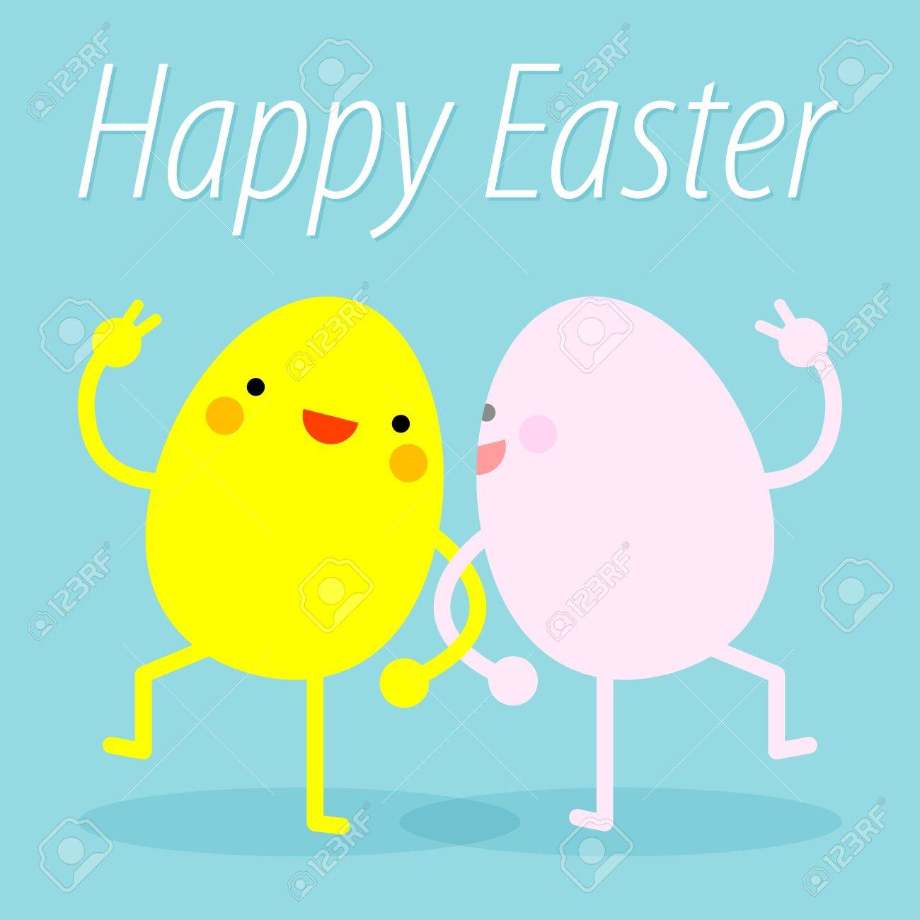 Happy Easter Easter Eggs Funny Easter Eggs Dance Happy Easter Royalty Free Cliparts Vectors And Stock Illustration Image 53173125