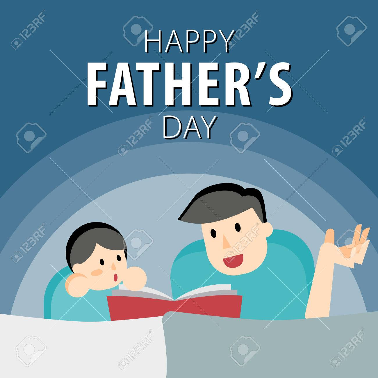 Happy fathers day fathers day greeting card dad reading with happy fathers day fathers day greeting card dad reading with his child all m4hsunfo Image collections