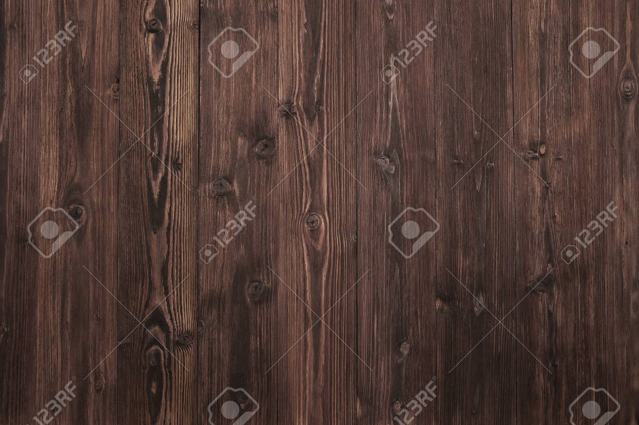 Beautiful Wood Background, Dark Brown and Aged Surface Nature Texture. - 120547422