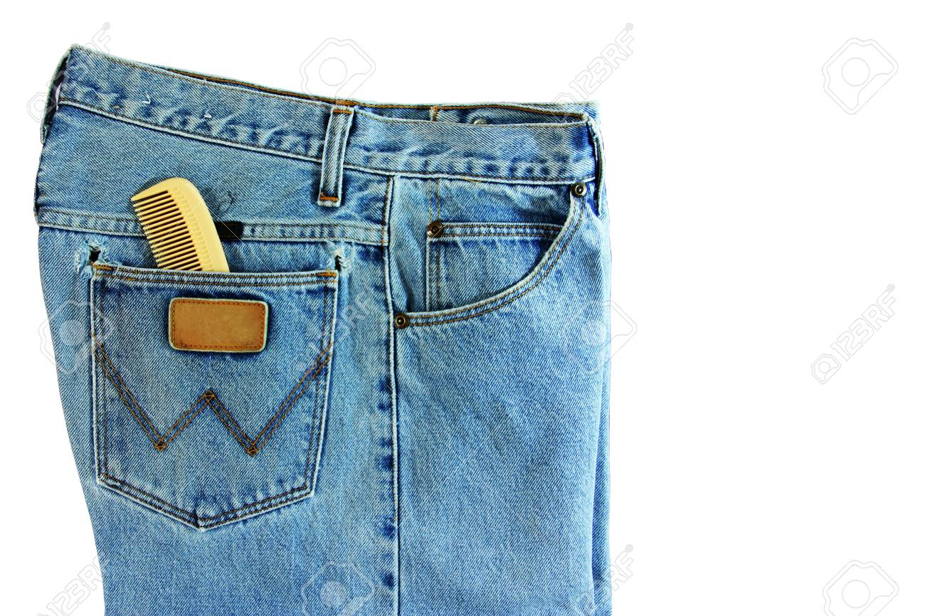 Jeans isolated on white Stock Photo - 14152512
