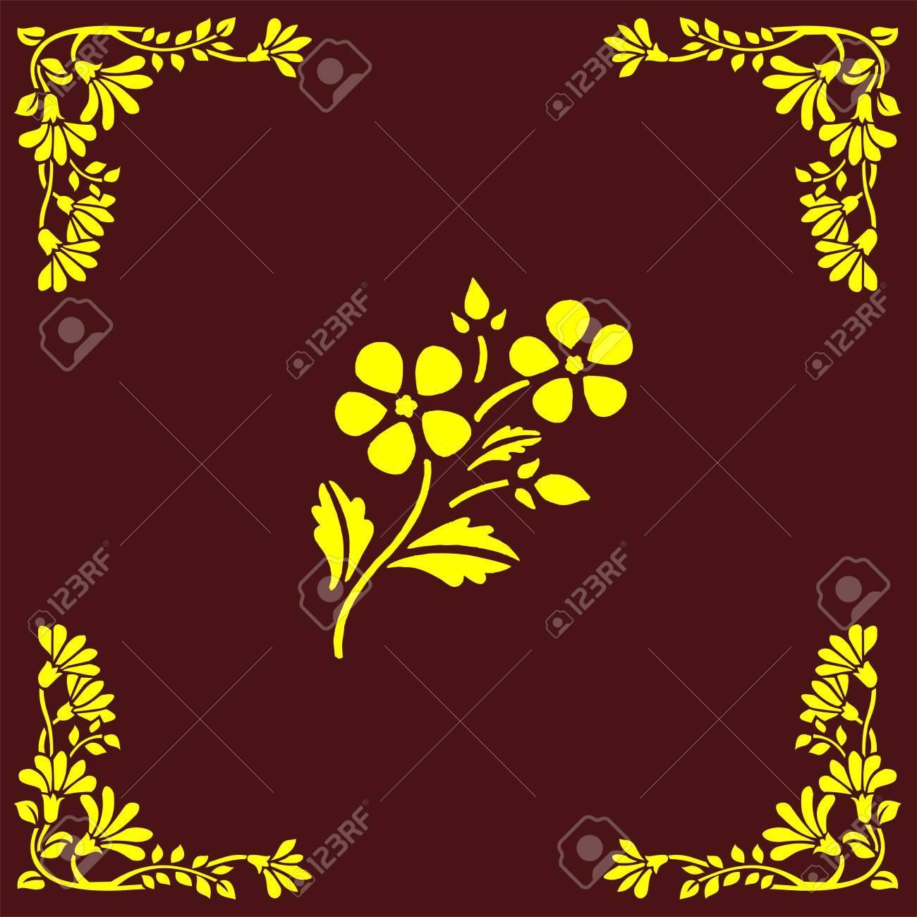 flower corner Stock Vector - 18668912