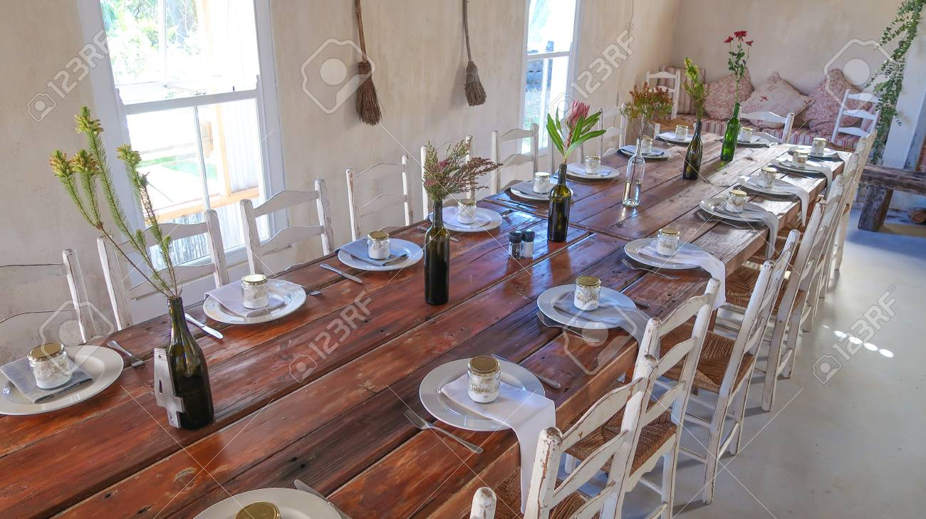 Wedding Reception Rustic Reception Table Layout