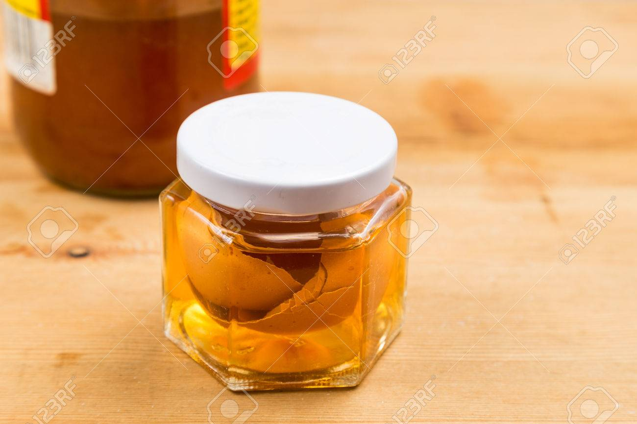 Egg shell soaked in apple cider vinegar as home remedy to relieve
