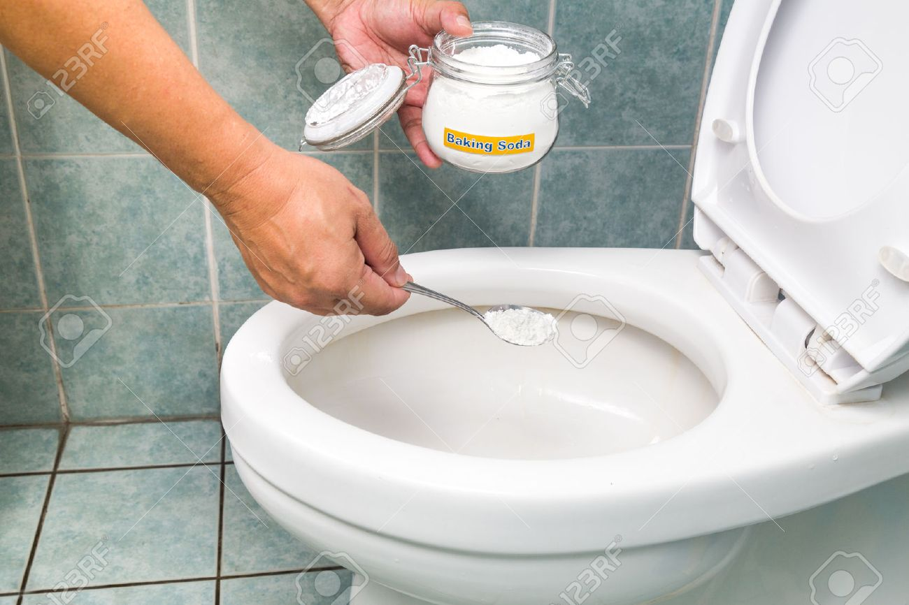 Baking Soda Used To Clean And Disinfect Bathroom And Toilet Bowl ...