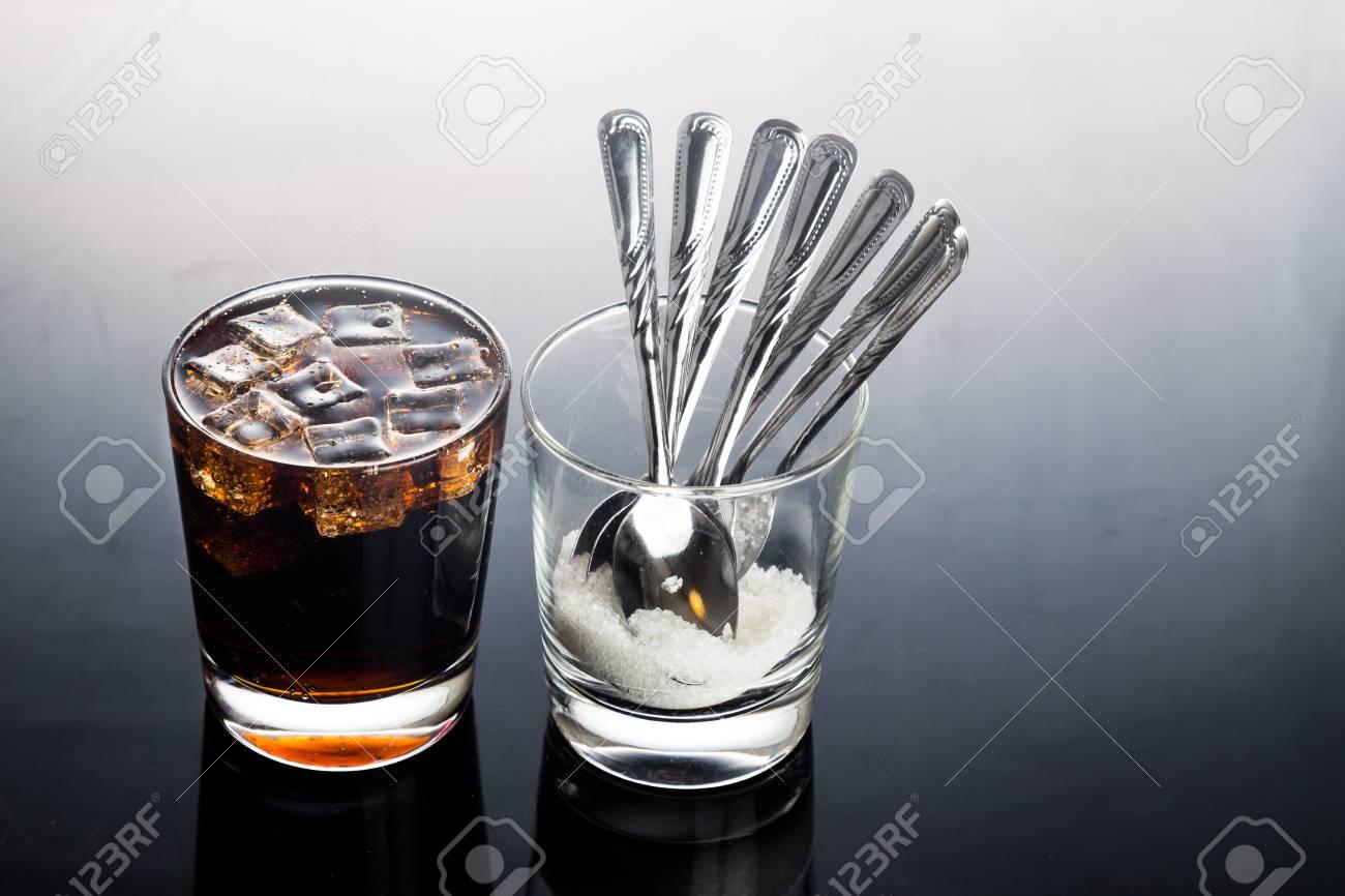 Konzept Der Kohlensäurehaltige Cola-Getränke Mit Ungesunden ...