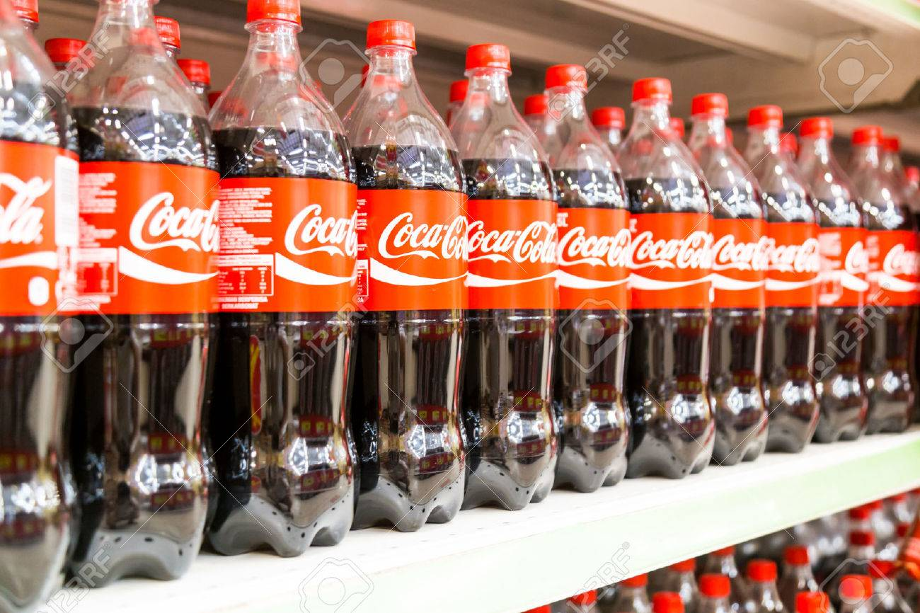 KUALA LUMPUR, MALAYSIA, April 16, 2016: Coca Cola maintain its leadership position in the Malaysia cola soft-drink market, according to latest retail audit report. - 55334474