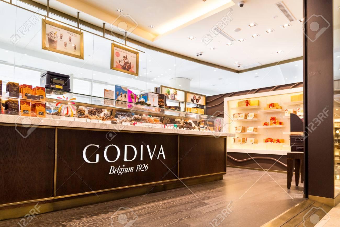 KUALA LUMPUR, MALAYSIA, May 20, 2016: Godiva Chocolate Outlet ...