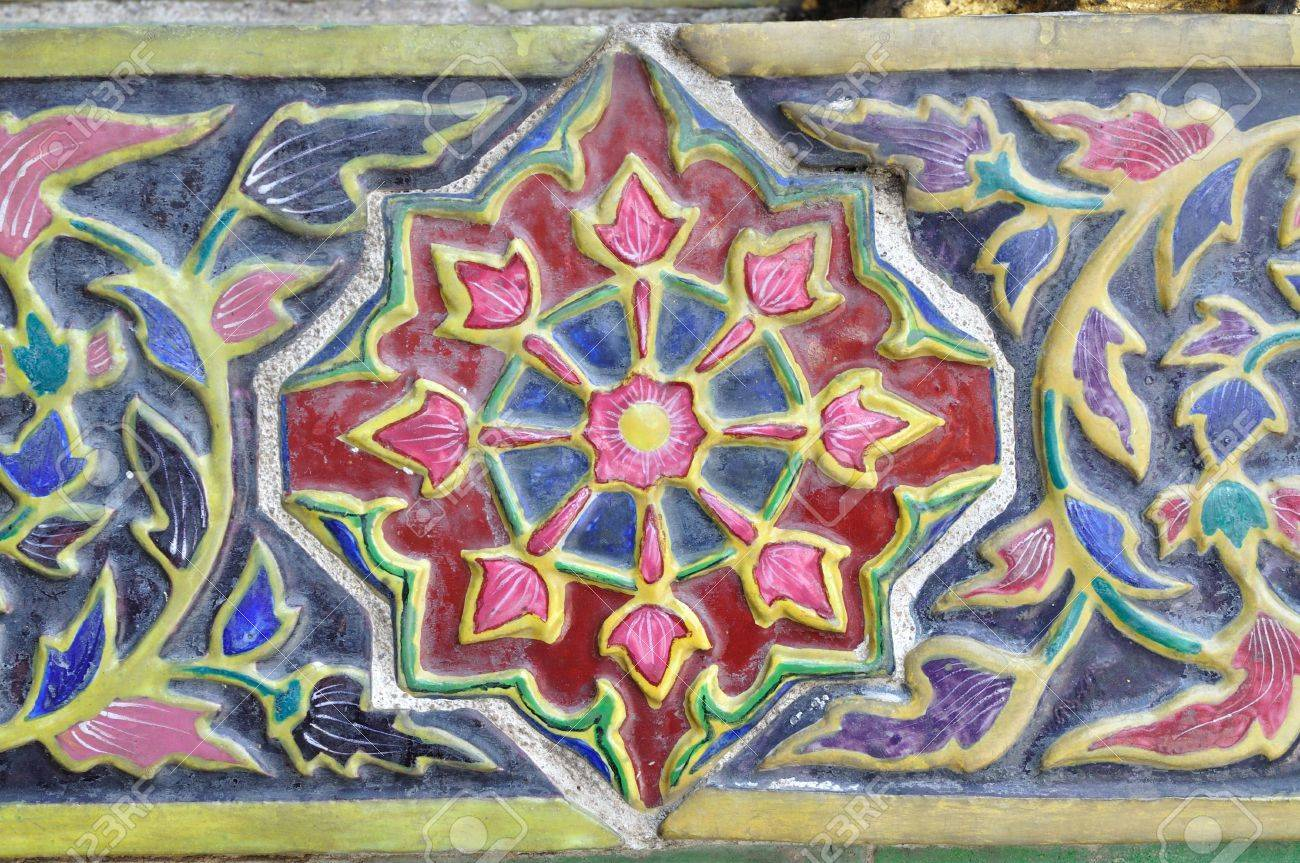 Thai style antique ceramic tile in royal palace bangkok thailand thai style antique ceramic tile in royal palace bangkok thailand stock photo doublecrazyfo Image collections