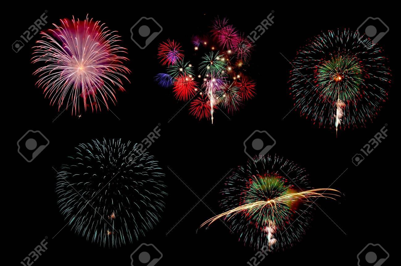 Colorful firework on Black background Stock Photo - 10836740