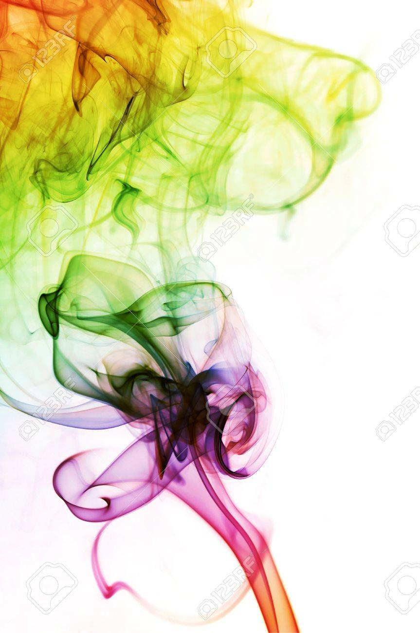 Abstract Colorful Smoke Background Stock Photo - 12774445