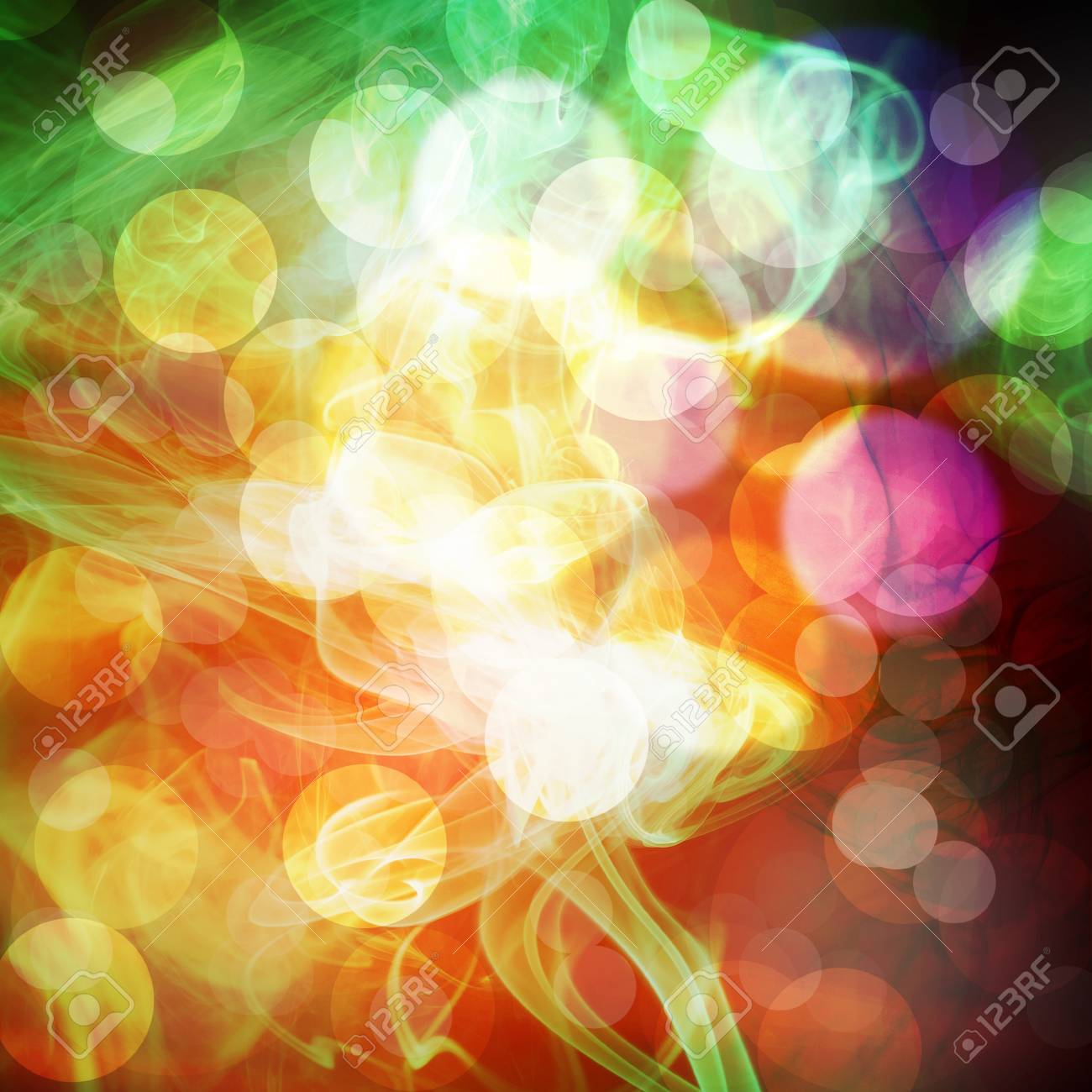 Bokeh mixed with Smoke background Stock Photo - 13633836