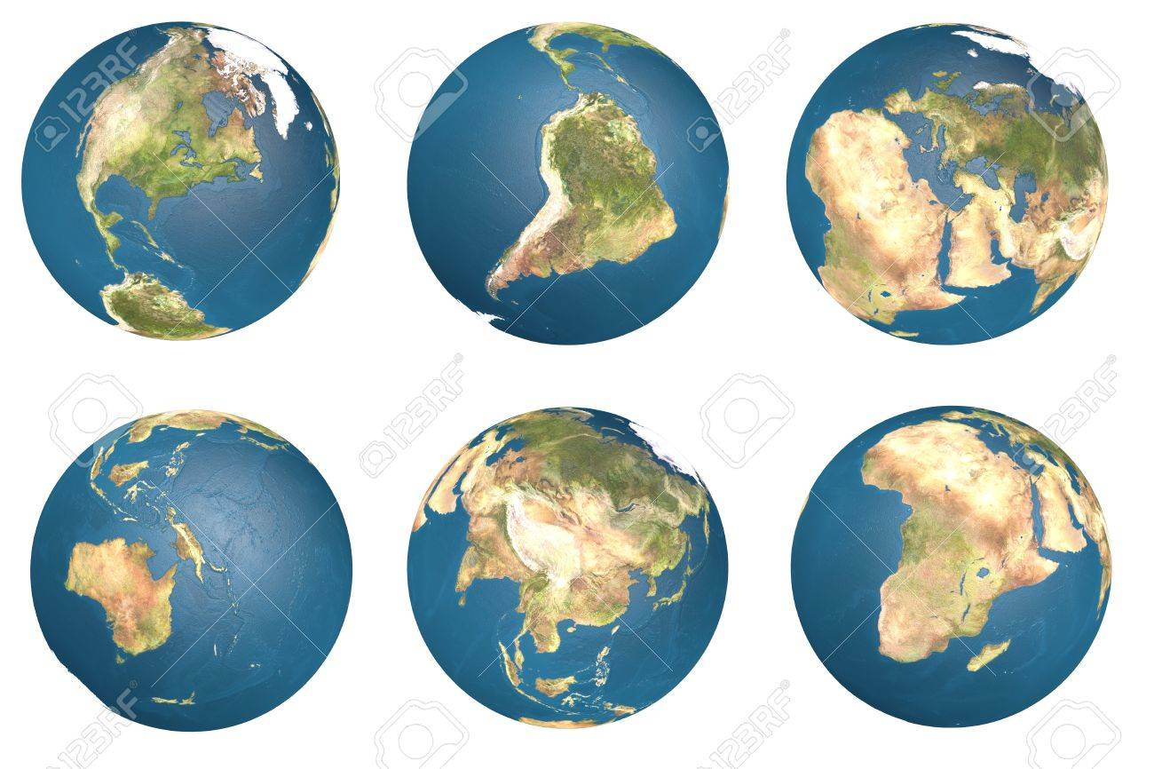3d Earth globe with clipping path.  Element of this image furnished by NASA. Stock Photo - 16917508