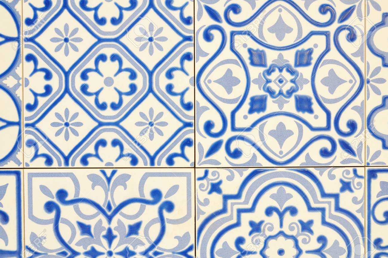 Texture Pattern Of Ceramic Tile For Use As Background Stock Photo